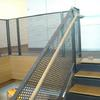 PERFORATED METAL RAILING WITH WOOD HANDRAIL